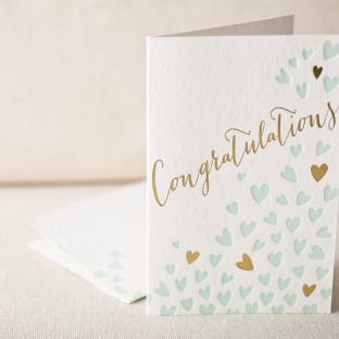 Heartfelt congrats letterpress card