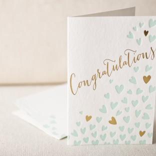 Heartfelt congrats letterpress card