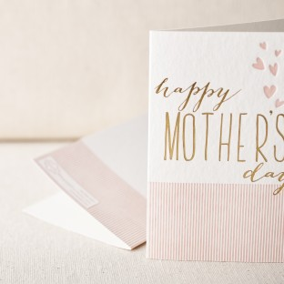 Heartfelt mothers day letterpress card