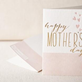 Heartfelt mothers day letterpress card
