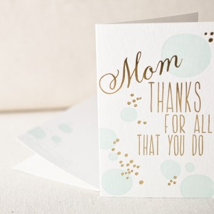 Mom for all you do letterpress card