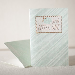 For The Little One letterpress and foil card