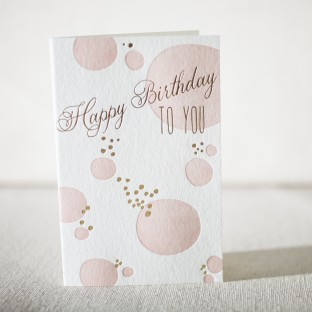 Kersey Birthday letterpress and foil card