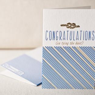 Tying the knot letterpress card
