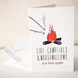 Like campfires letterpress card