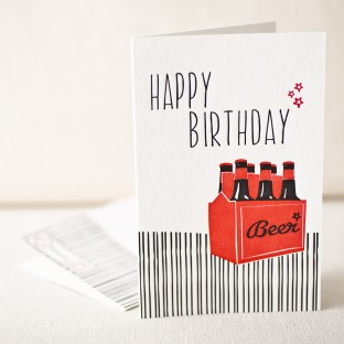 Birthday seven pack letterpress card
