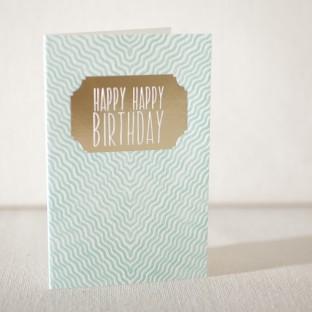 Gazar Birthday letterpress and foil card