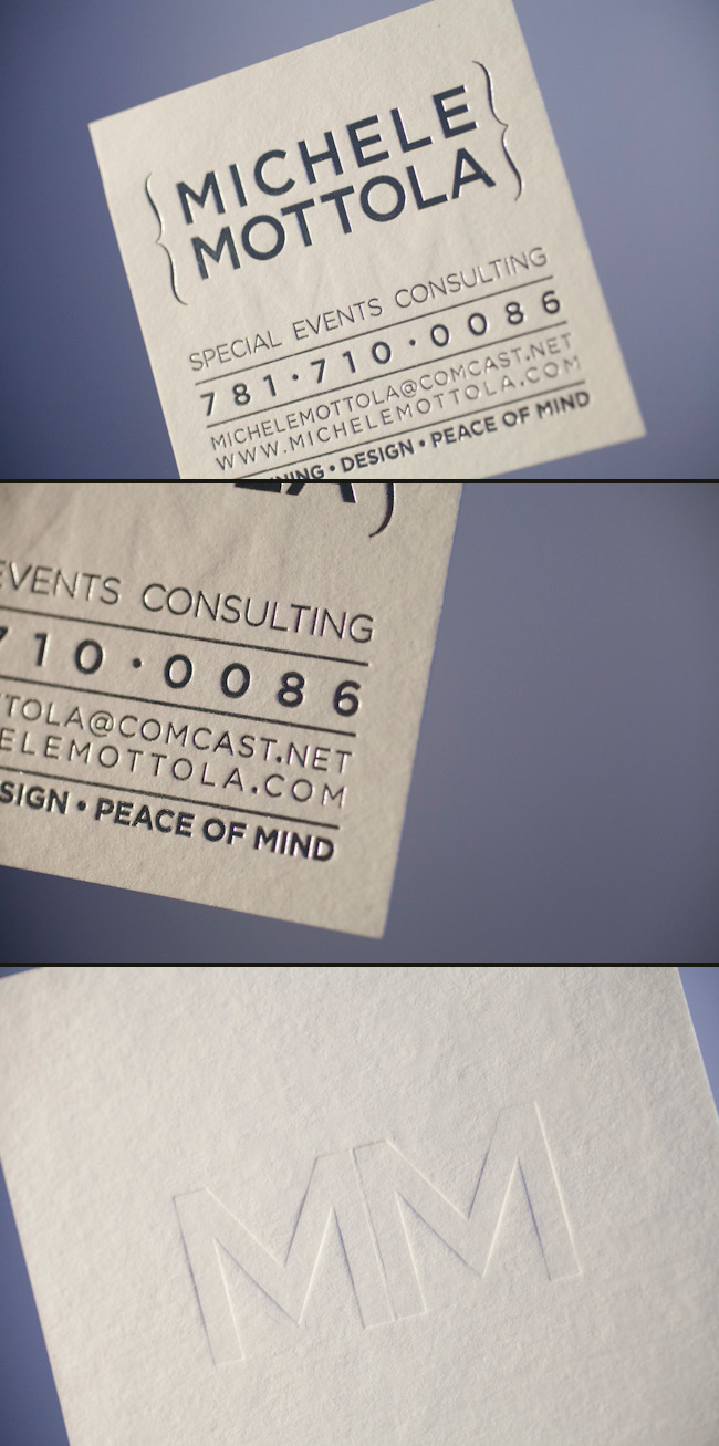 Letterpress business cards smock square custom eco friendly business cards colourmoves