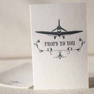 Props To You letterpress card