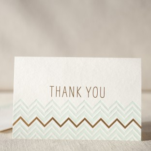 Chevron Thank You letterpress and foil cards