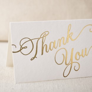Thank you script foil cards