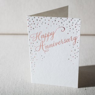 Sparkling Anniversary letterpress and foil card