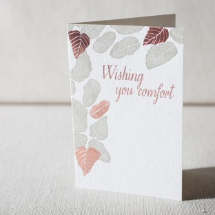 Wishing You Comfort letterpress and foil card