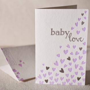 Heartfelt Baby letterpress and foil card
