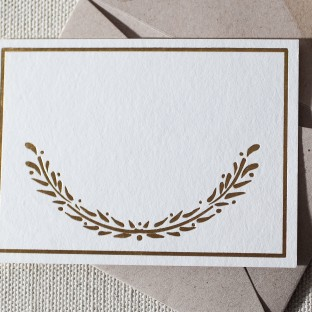 Wreath foil stamped gift tags