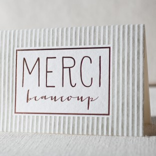 Cameo letterpress and foil cards