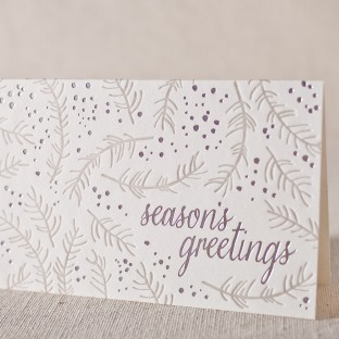 Branch letterpress and foil cards
