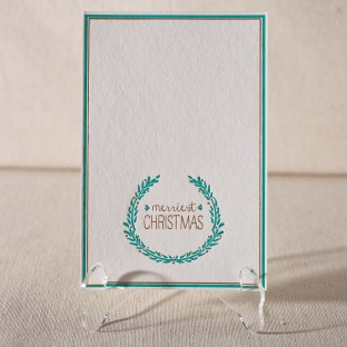 Merriest Christmas letterpress and foil flat cards