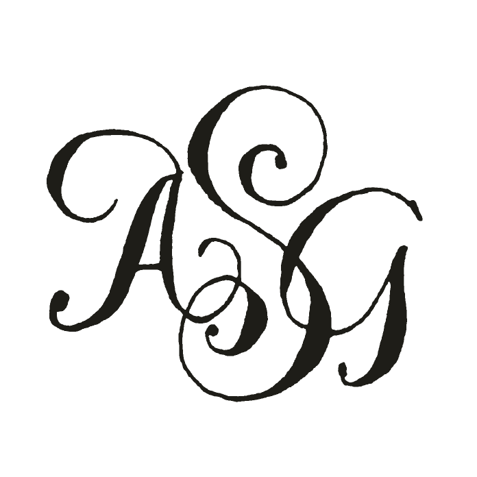 Fonts monograms and calligraphy