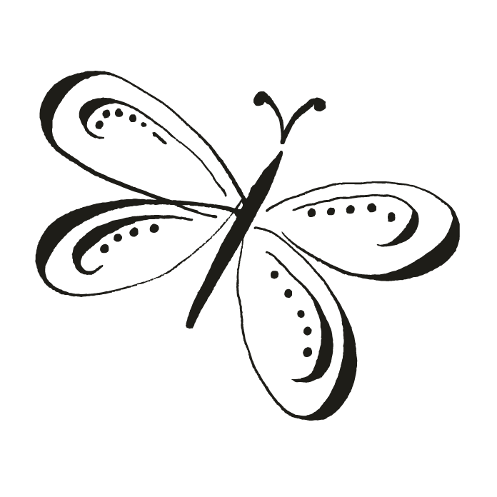Butterfly motifs wedding