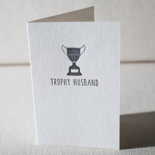 Trophy Husband letterpress card