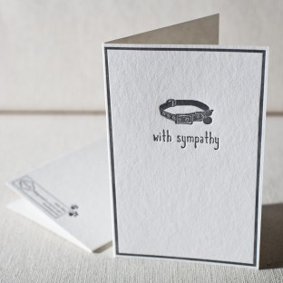 Pet letterpress card