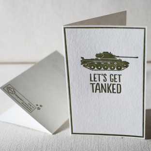 Tanked letterpress card