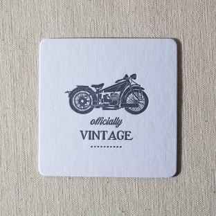 Vintage letterpress coasters