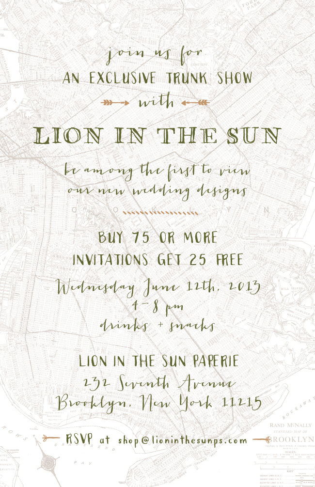 View Smock's brand new letterpress wedding invitations and foil stamped invitations at Lion in the Sun in Brooklyn