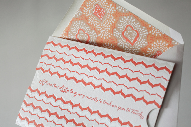 Smock's letterpress and foil stamped National Stationery Show invitations