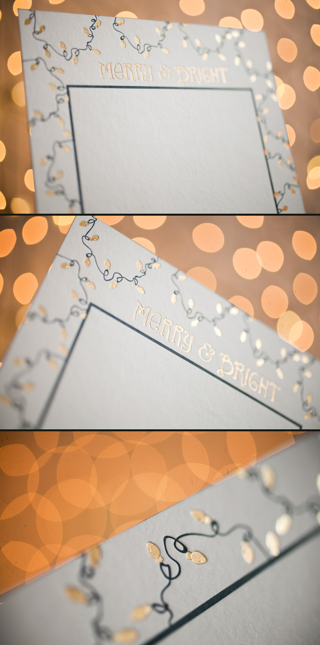 Custom Holiday Photo Cards in Gold Foil
