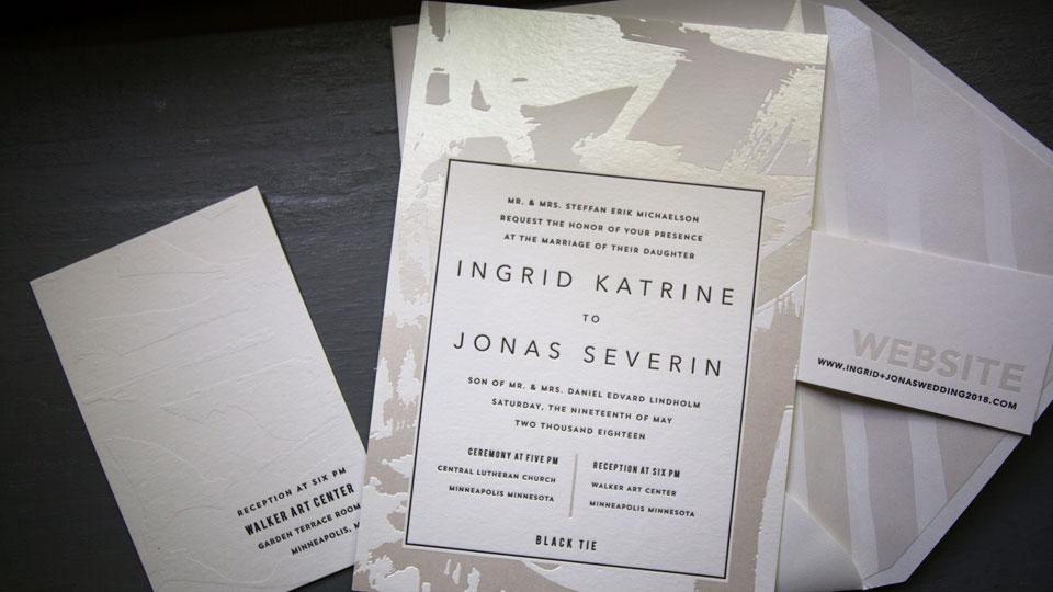 Custom wedding invitations from Smock