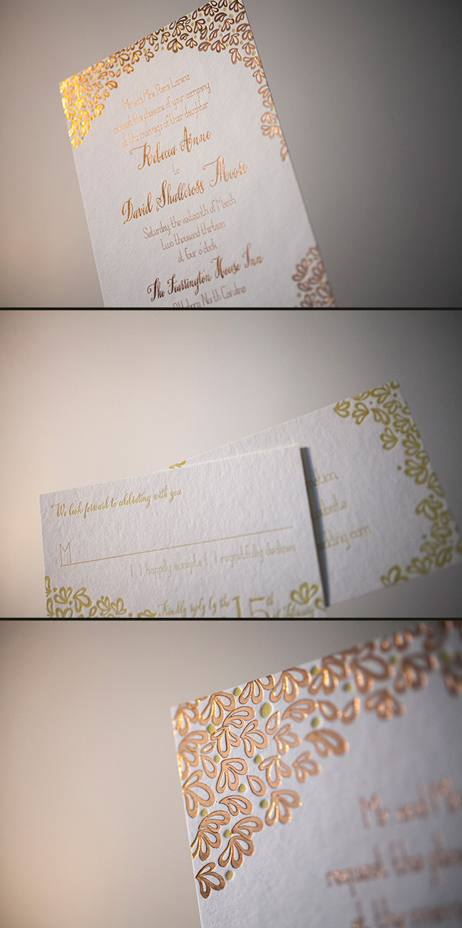 A beautiful combination of letterpress and foil stamping by Smock.