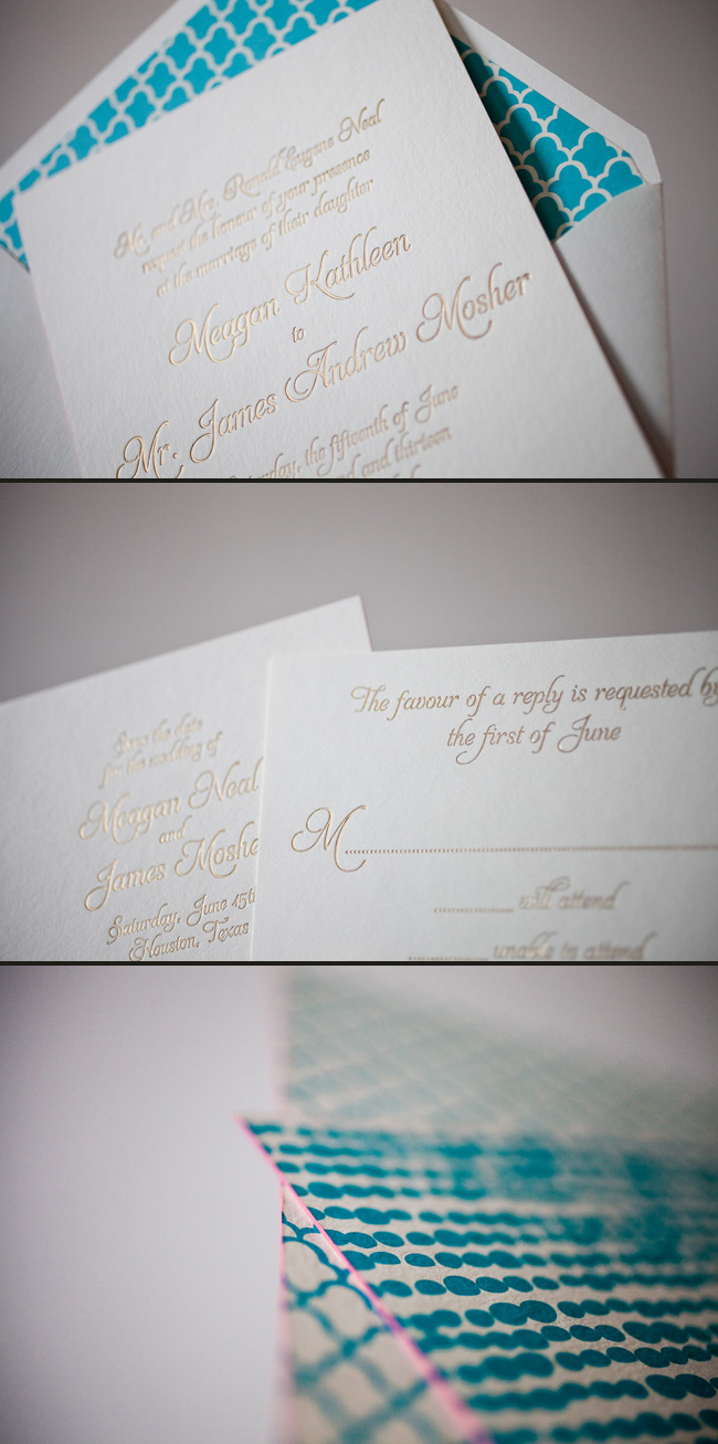 Custom wedding invitations by Smock