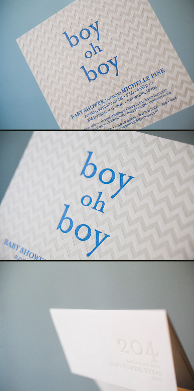 Hekla Letterpress Baby Shower Invitations