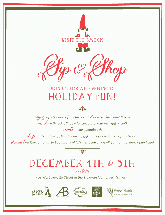 Visit Smock's 2nd Annual Holiday Sip & Shop!