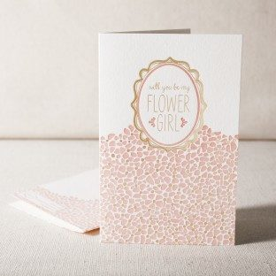 Flower Girl letterpress and foil card
