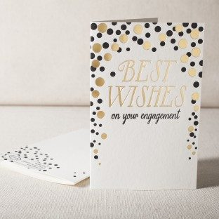 Engagement Wishes letterpress and foil card