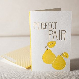 Pair letterpress and foil card