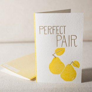Pair letterpress and foil card