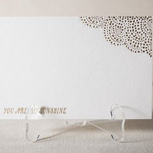 Sunshine foil stamped cards