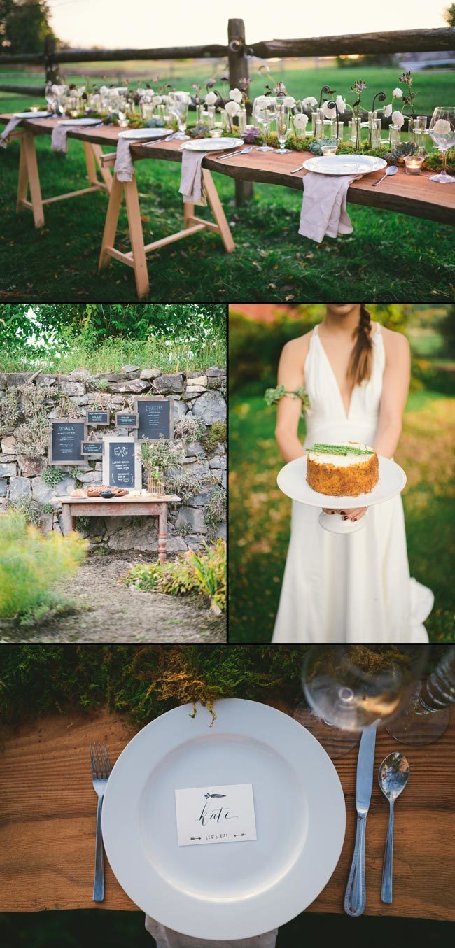 Rustic eco-friendly wedding inspiration shoot featuring letterpress stationery from Smock | Photography by Kate Ignatowski