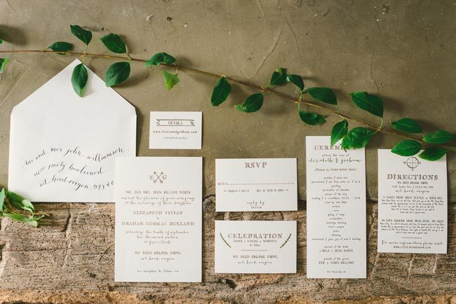 Cimarron letterpress wedding invitations by Smock + hand calligraphy by Nicole Black | Photography by Kate Ignatowski