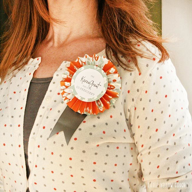 Smock DIY rosette pins from the Little Yellow Couch