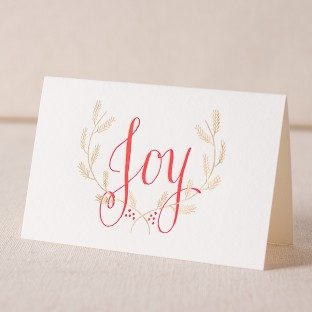 Joy letterpress and foil cards