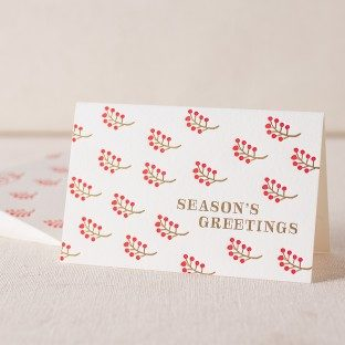 Berries letterpress and foil cards