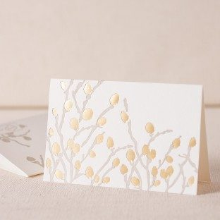 Willow Note letterpress and foil cards