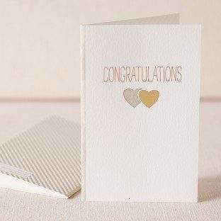 On Your Engagement 2 letterpress and foil card