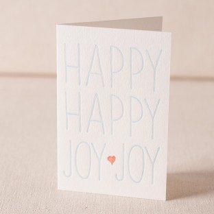 Happy Joy letterpress card