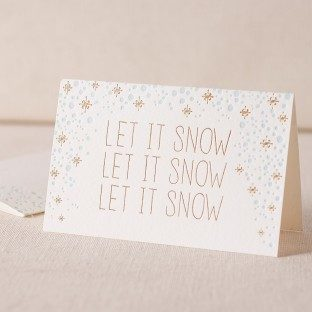 Let It Snow letterpress and foil cards